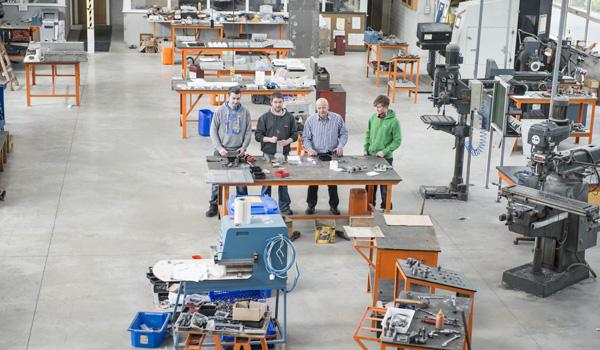 Factory floor of MPTD's state of the art custom built premises
