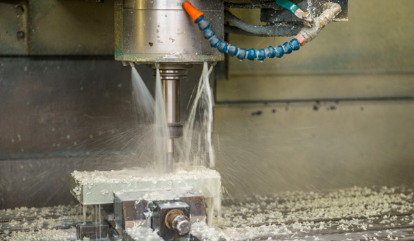 CNC drill with water